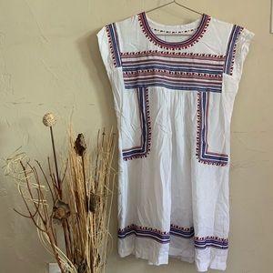 Dresses & Skirts - White mini boho dress